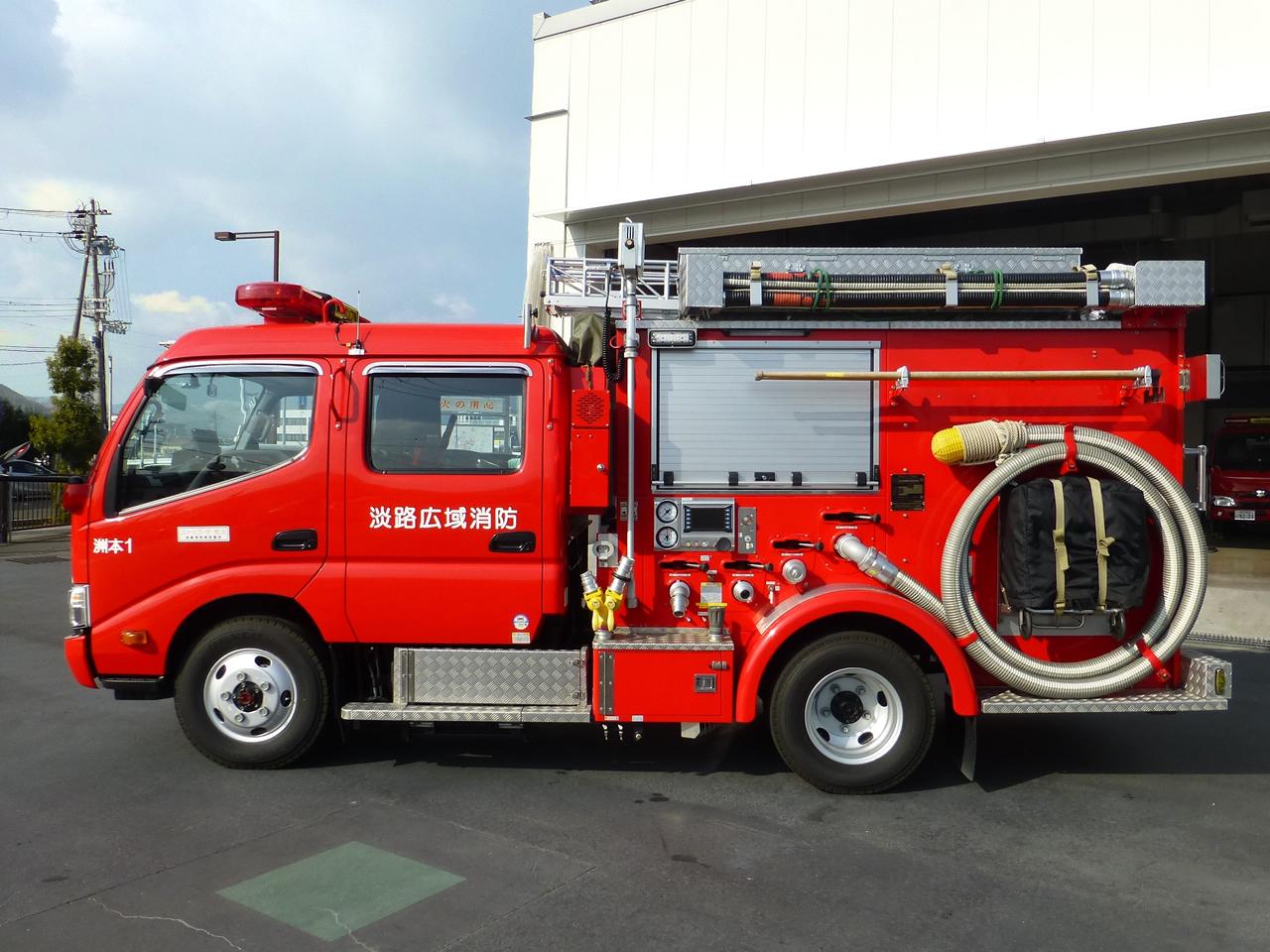 消防ポンプ自動車(左面)
